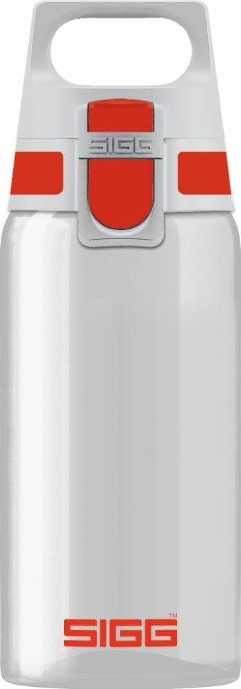 Trinkflasche Total Clear ONE Red [0.5 L]. inkl. 1-farbigen Druck