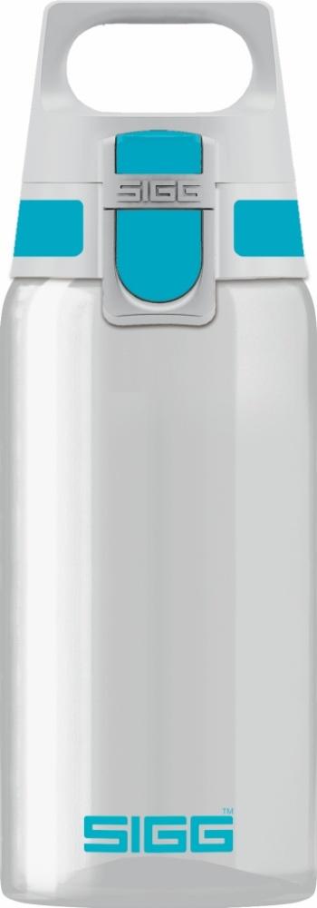 Trinkflasche Total Clear ONE Aqua [0.5 L]. inkl. 1-farbigen Druck