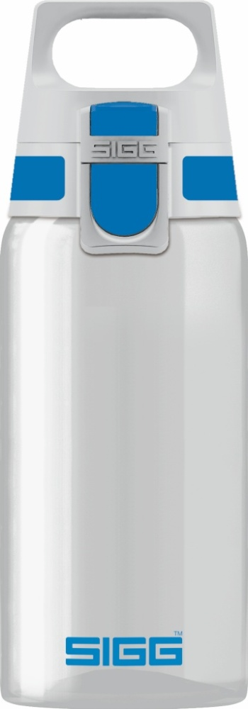 Trinkflasche Total Clear ONE Blue [0.5 L]. inkl. 1-farbigen Druck