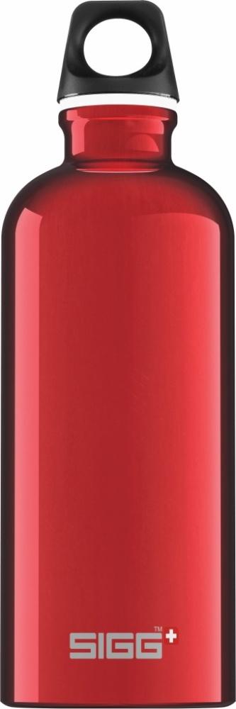 Trinkflasche Traveller Red [0.6 L]. inkl. 1-farbigen Druck