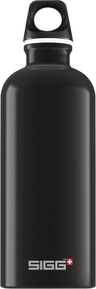 Trinkflasche Traveller Black [0.6 L]. inkl. 1-farbigen Druck