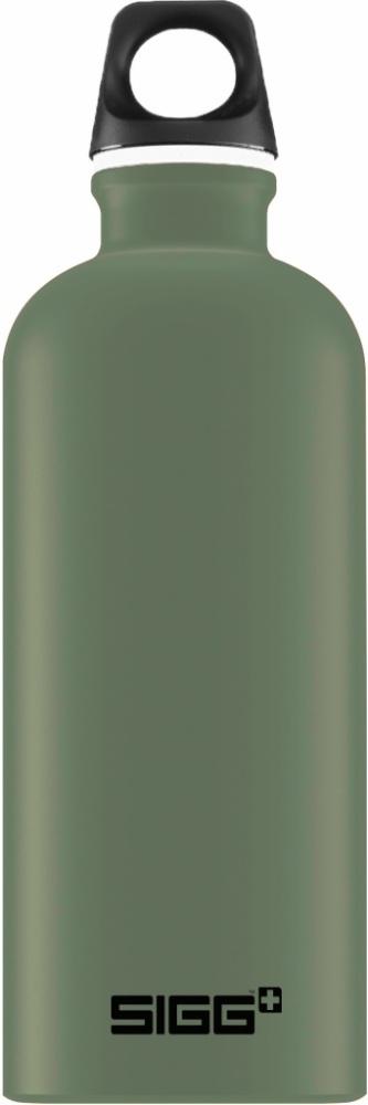 Trinkflasche Traveller Leaf Green touch [0.6 L]. inkl. 1-farbigen Druck