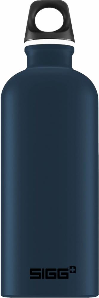 Trinkflasche Traveller Dark Blue Touch [0.6 L]. inkl. 1-farbigen Druck