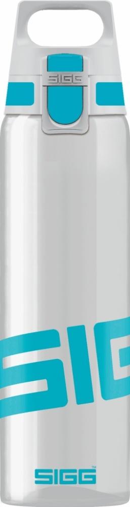 Trinkflasche Total Clear ONE Aqua [0.75 L]. inkl. 1-farbigen Druck
