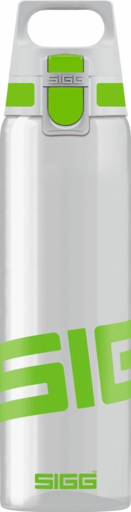 Trinkflasche Total Clear ONE Green [0.75 L]. inkl. 1-farbigen Druck