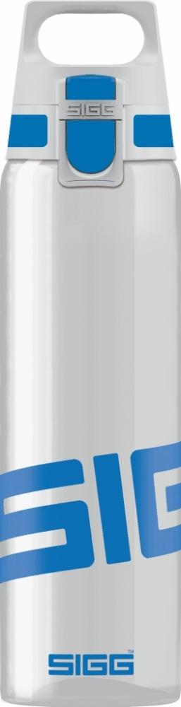 Trinkflasche Total Clear ONE Blue [0.75 L]. inkl. 1-farbigen Druck
