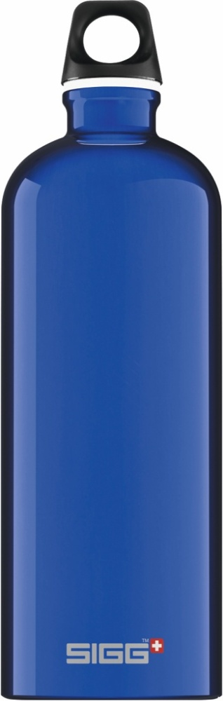 Trinkflasche Traveller Dark Blue [1.0 L]. inkl. 1-farbigen Druck