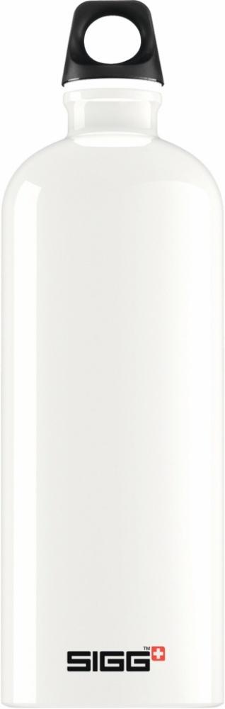 Trinkflasche Traveller White [1.0 L]. inkl. 1-farbigen Druck