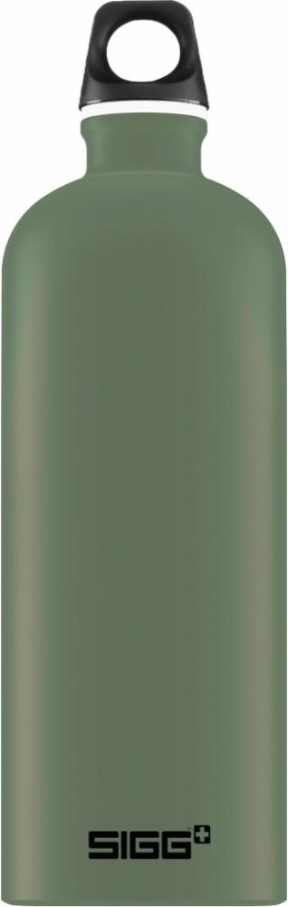 Trinkflasche Traveller Leaf Green touch [1.0 L]. inkl. 1-farbigen Druck