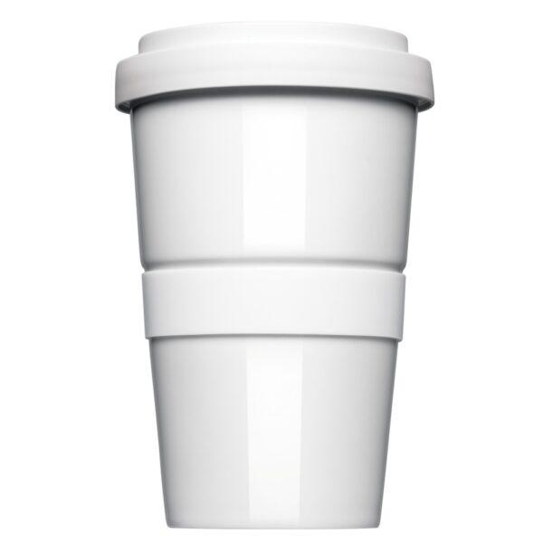Coffee2Go, original Coffee to Go Becher, Form 345 mit glatter oder geriffelter Siliconbanderole
