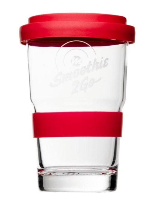 Smoothie2Go Smoothieglas, Smoothiebecher Form 361 Inklusive glatter Siliconbanderole