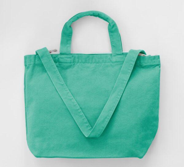 Zipped Canvas Shopper