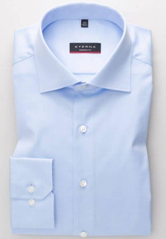 ETERNA-Hemden-Langarm (verlängert 72cm)-MODERN FIT-OHNE BRUSTTASCHE