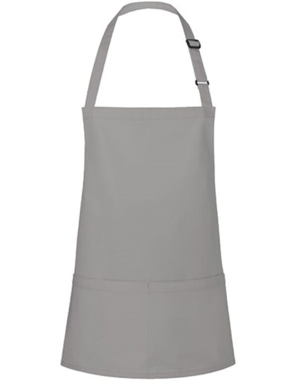 Kurze Latzschürze Basic mit Schnalle und Tasche
