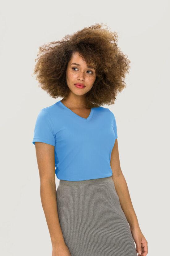 HAKRO Damen V-Shirt COOLMAX®