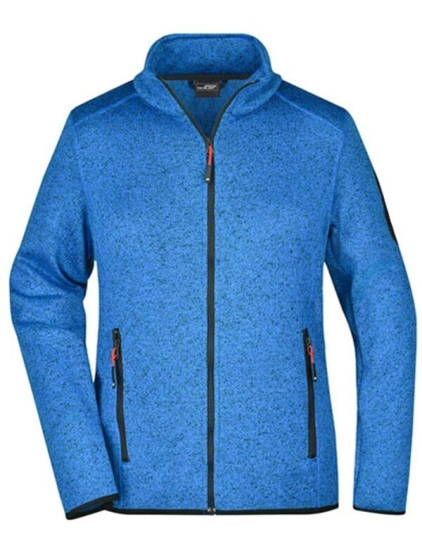 Ladies` Knitted Fleece Jacket
