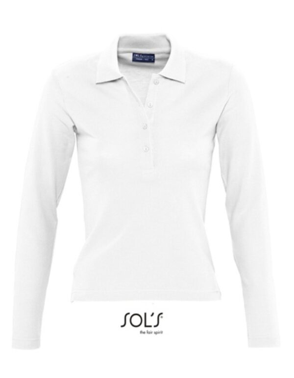 Ladies` Longsleeve Polo Podium