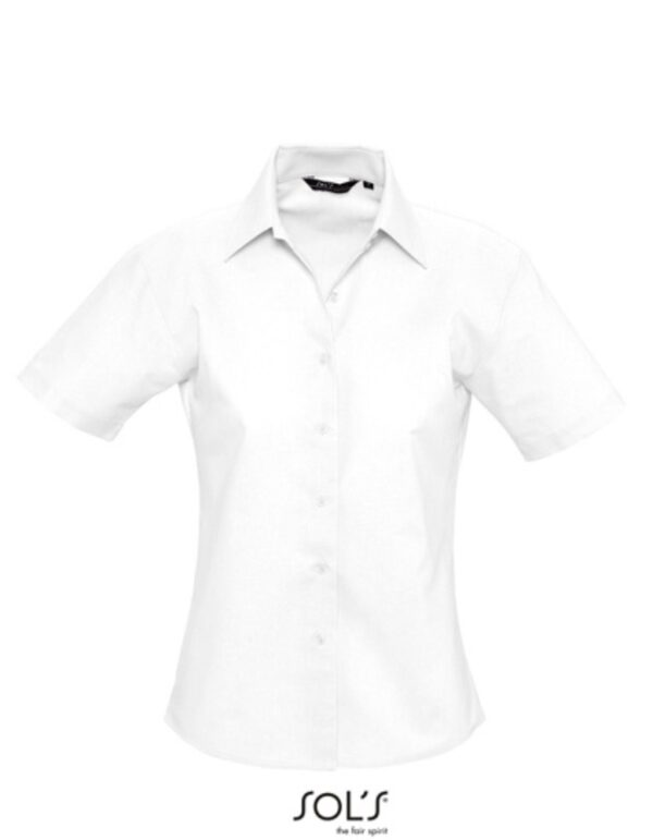 Ladies` Oxford-Blouse Elite Short Sleeve