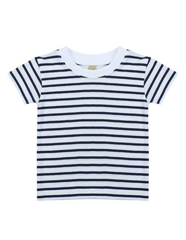 Short Sleeved Stripe T Shirt